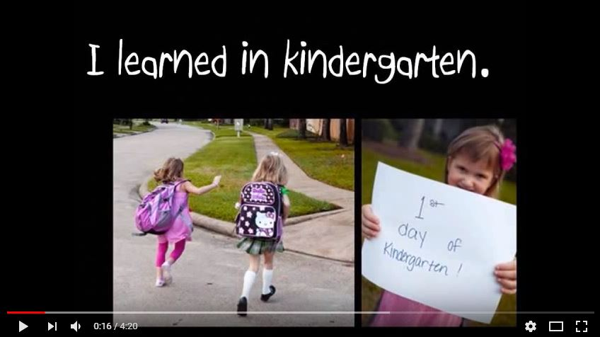 I learned in Kindergarten